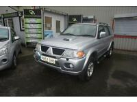 2007 MITSUBISHI SHOGUN SPORT TROJAN FULL LEATHER FSH ESTATE DIESEL