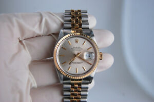 Two Tone Rolex Datejust 16233 36mm 18k Gold and Stainless Steel