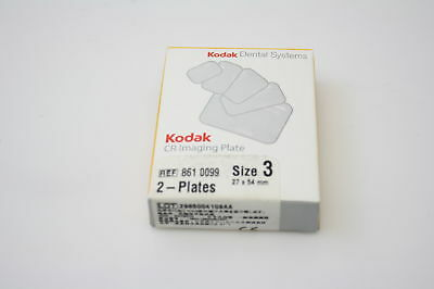 Two New Size 3 Kodak Dental Systems X-ray Imaging Phosphor Plates 27x54 Mm Cr