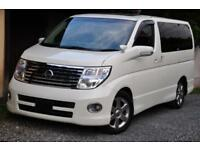Nissan Elgrand direct Japan import supplied fully UK reg