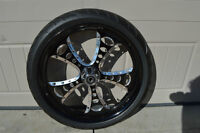 "21"" EXTREME MACHINE RIM/ROTOR/TIRE"