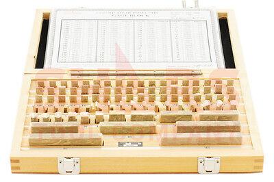 Shars 87 Pcs Metric Rectangular Gage Blocks Set Din861 Grade 2 Cert New