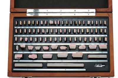 SHARS 81 PCS GRADE B GAGE GAUGE BLOCK SET NIST CERTIFICATE