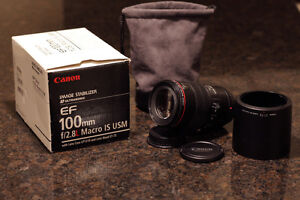 CANON EF 100 f2.8 IS L  MACRO LENS