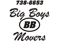 BIG BOYS MOVERS ...NO HOURLY RATE..FULLY INSURED!!.. 738-6653