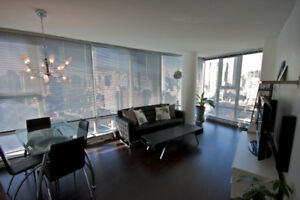 Unbeatable location! Fully furnished 2bed 2bath +Den. DT Vancity