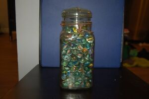 Vintage Canning Jars With with Marbles and some loose Marbles London Ontario image 2