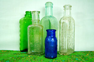 Vintage Glass Apothecary Bottles - Group of Five Medicine Bottle London Ontario image 4