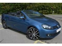 2014 Volkswagen Golf Cabriolet GT 2.0 TDI BMT 140PS 6-speed manual Diesel blue M