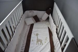 Ensemble de literie Libellule Girafe pour bébé