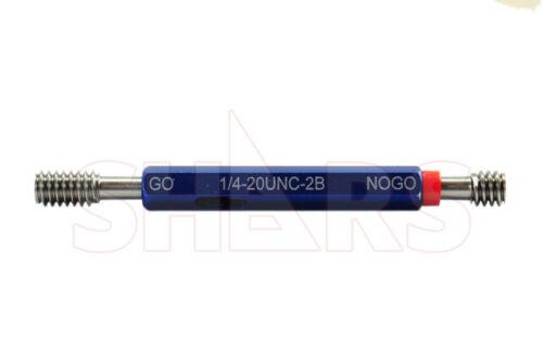 SHARS 1/4-20UNC Thread Plug Gage GO and NO GO Class 2B NEW !