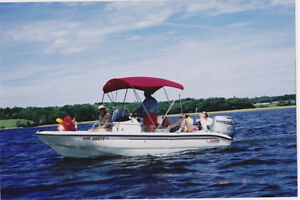 Boston Whaler & trailer - loaded for cruise, ski, fish