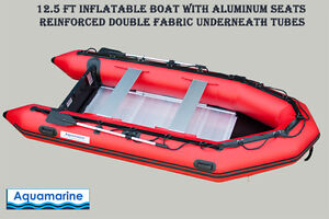 12 ' INFLATABLE BOAT SPORT SERIES with Double PVC under Tubes