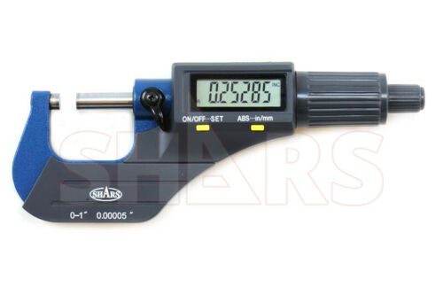 "SHARS 0-1"" 0.00005"" Digital Electronic Outside Micrometer Carbide Tip 0-25mm P]"