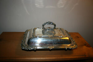 Antique Silver Plated Serving Trays
