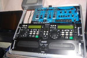 Mixer and Dj double draw deck cd player