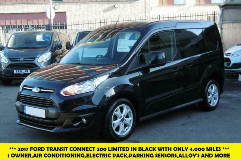 ee5d42069b 2017 FORD TRANSIT CONNECT 200 LIMITED L1 SWB EURO 6 VAN IN BLACK WITH ONLY  4.000