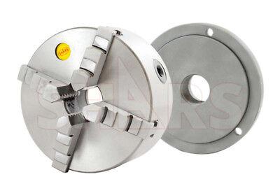Shars 6 4 Jaw Self Centering Lathe Chucks W Cert Tir 1-12-8 Back Plate New