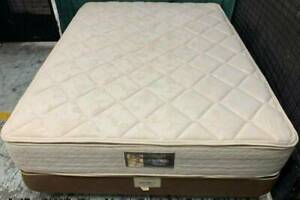 Excellent double-sided Pillow top queen mattress with base for sale#9