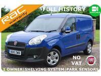 2010 Fiat Doblo Cargo 1.3 Multijet SX Diesel Van ~NO VAT~Side Door-Ply Linded
