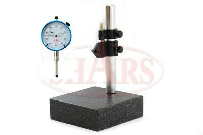 Shars 2 Piece Combo 0-1 Dial Indicator Granite Stand New