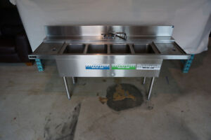 Perlick Stainless Steel Four-Tank Sink