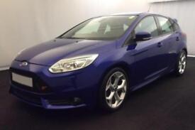 2013 BLUE FORD FOCUS 2.0 T ECBOOST ST3 PETROL 5DR HATCH CAR FINANCE FR £37 PW