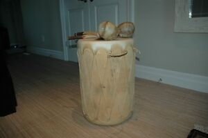 One of A Kind: Handcrafted Indian Tribal Drum w/Maracas