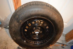 New Tire (Trailer) (185-75-14) and Rim (5X4.75 in) (5X120 mm)