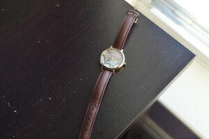 UO Leather Map Watch