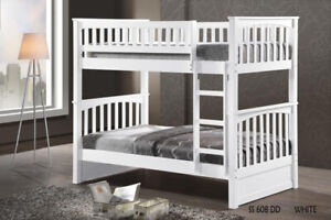 Twin over Twin Hardwood Bunk Bed - by Bunk Beds Canada