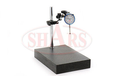 Granite Surface Check Comparator Stand Plate 1 .001 Dial Indicator Gage R