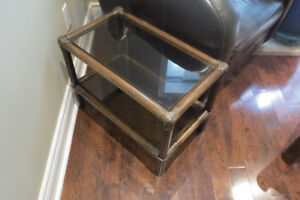 Faux Bamboo Side Table