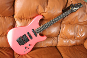 Guitare Ibanez Pro Line PR1440 Cherry Pearl Ice 1985 Japan