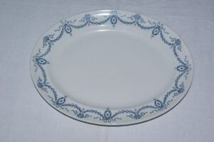 England Keeling and Clyde Stamped blue serving platter