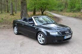 2004 AUDI A4 CABRIOLET 1.8T Sport 2dr Multitronic Automatic. ONLY 43,000 MILES