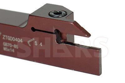 Shars External Lh Cutoff Grooving Turning Tool Holder 34 Shank 4.00mm New P
