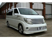 TOP OF THE RANGE 2003 NISSAN ELGRAND RIDER 3.5 V6 AUTOMATIC 8 SEATER WHITE PEARL