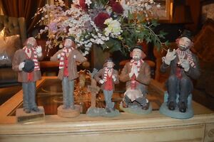 5 Sets of RED SKELTON'S Figurines