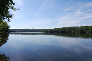 261.5 feet WATERFRONT lot for sale on beautiful Lac Marcelin!!