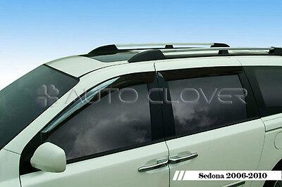 Smoke Window Visor Vent 4p For 2006 2013 Kia Sedona : Grand Carnival