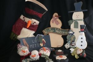 Box lot SNOWMEN DECORATIONS