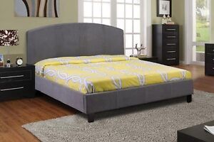 NEW ★ Queen Bed ★ Covered in Fabric linen ★ Can Deliver
