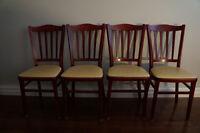 4 Chaises ''bistro'' en bois