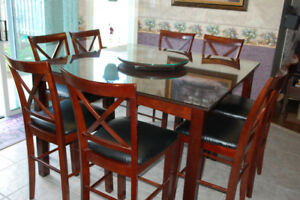 Up to 8 counter height pub style chairs (no table)