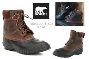 NEW Sorel Mens Cheyanne II Snow Boot Condtion: New, Tobacco, Black, 8.5 M US