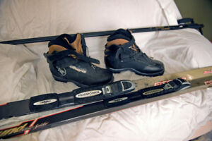 New Fischer Cross country skis and boots