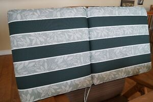 Green and White Chair Cushions