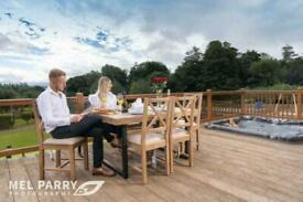 NOW REDUCED LODGE FOR SALE PLAS COCH ANGLESEY NORTH WALES- HOT TUB DECKING