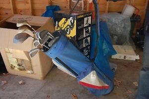 Golf Clubs, Bag, and Cart (Package Deal)